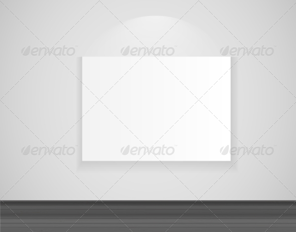 GraphicRiver Frame on Wall for Your Text and Images Vector Ill 7510621