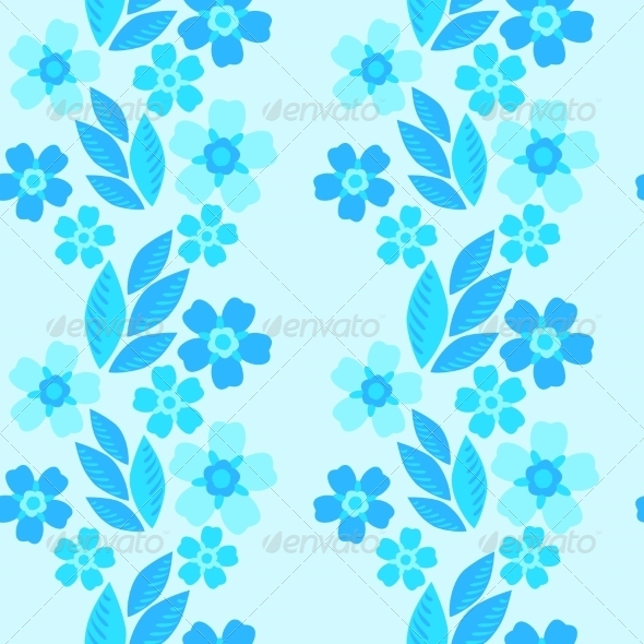 GraphicRiver Forget-Me-Not Seamless Pattern 7510678