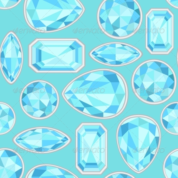GraphicRiver Blue Sapphire Saturated Colour Seamless Pattern 7510693