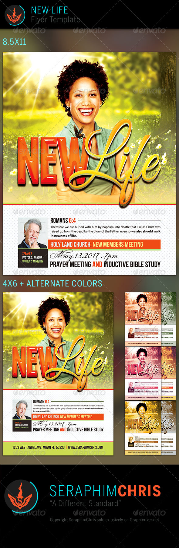 GraphicRiver New Life Church Flyer Template 7510713