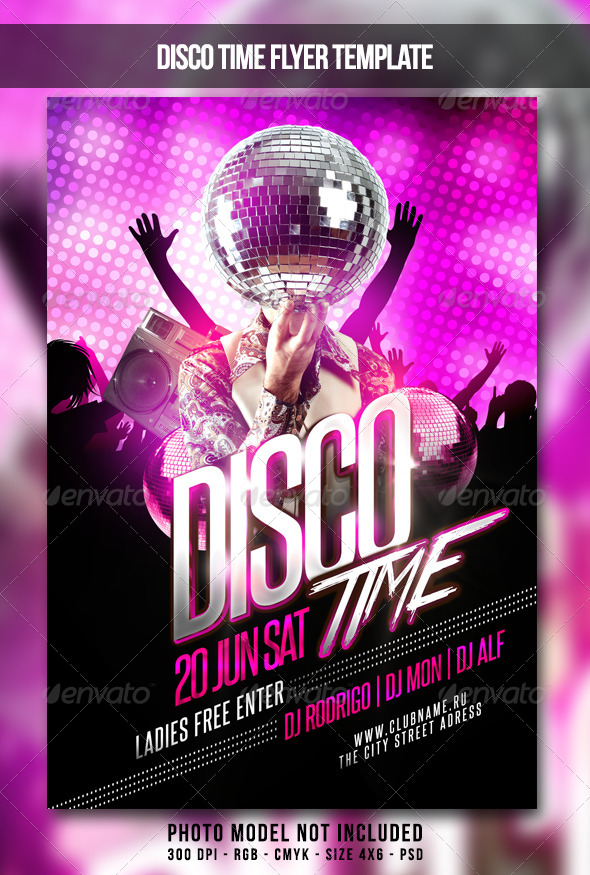 GraphicRiver Disco Time Flyer 7510769