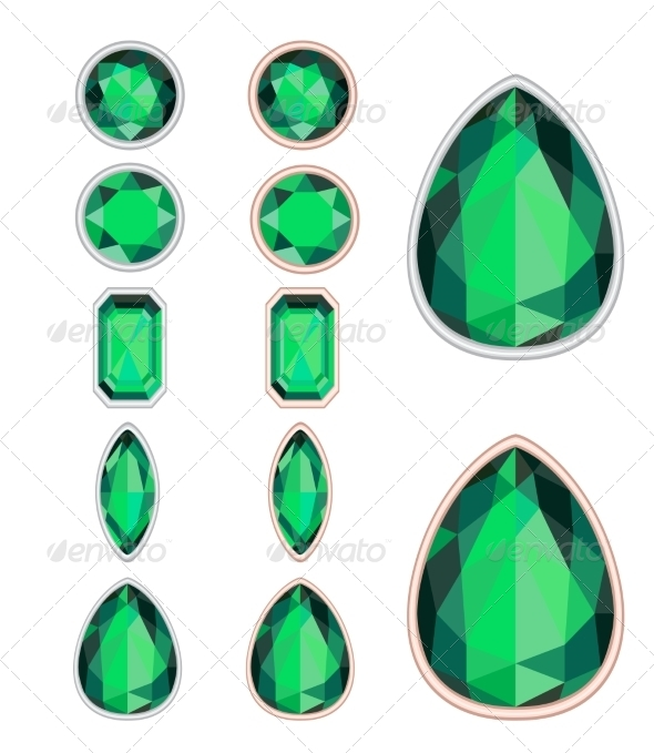 GraphicRiver Set of Five Forms of Emerald 7510772