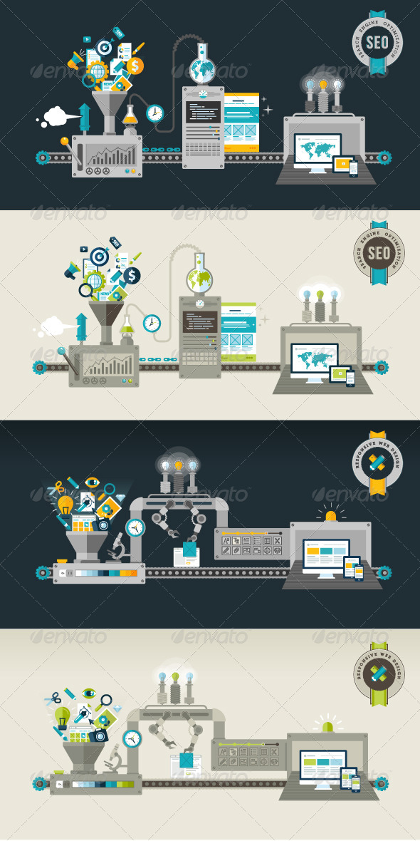 GraphicRiver Flat Design Concepts for Web and SEO 7510780