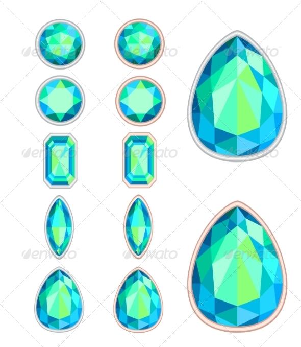 GraphicRiver Set of Five Forms of Aquamarine 7510860
