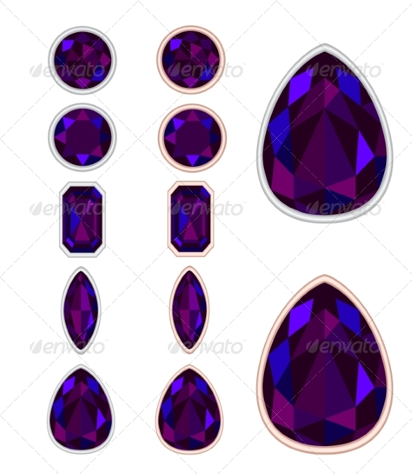 Set of Five Forms of Black Opal