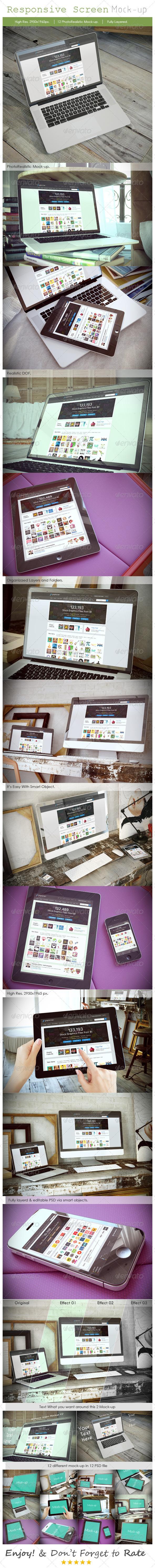 GraphicRiver Responsive Device Mockup V2 7510994