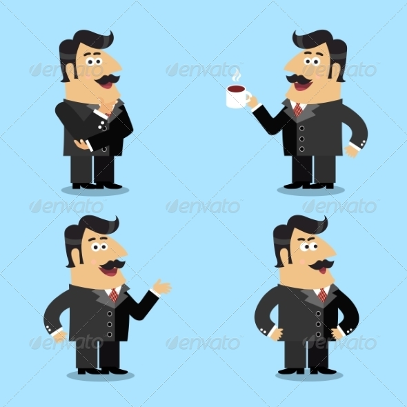 GraphicRiver Business Life Shareholder Poses 7511132