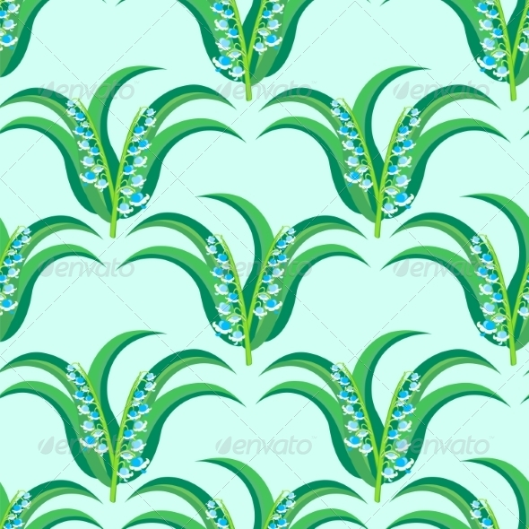 GraphicRiver May-Lily Seamless Pattern 7511136