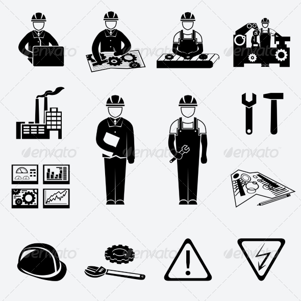 GraphicRiver Engineering Icons Set 7511158