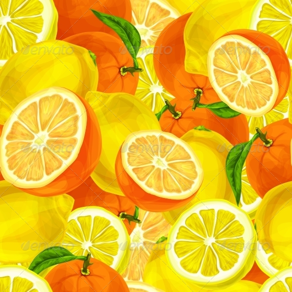 GraphicRiver Citrus Fruits Seamless Background 7511174