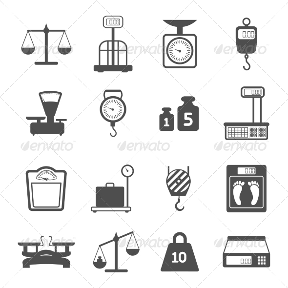 GraphicRiver Scales Weight Icons Set 7511175