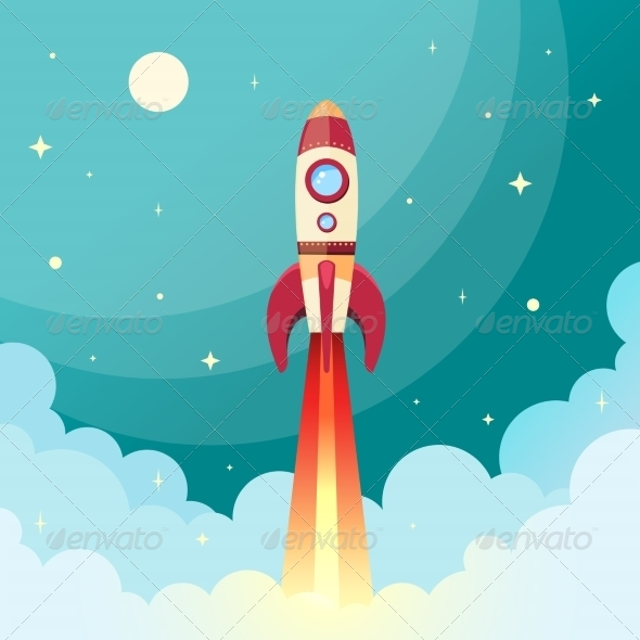 GraphicRiver Space Rocket Print 7511194