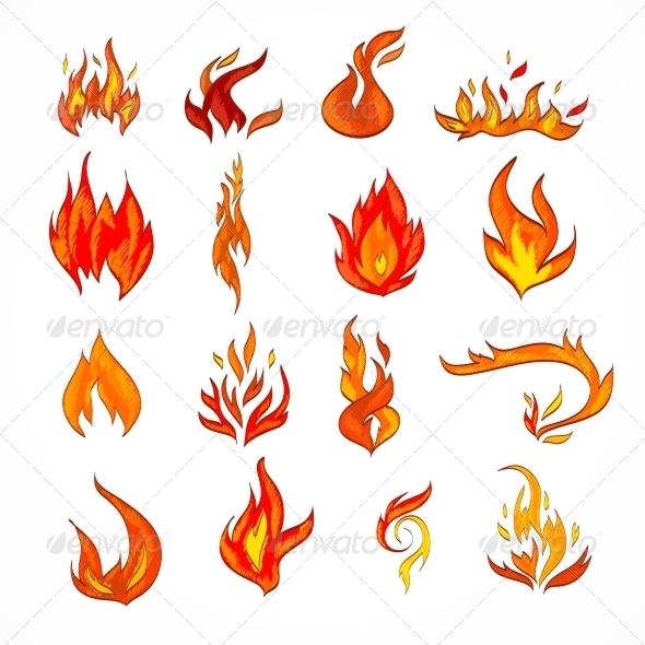 GraphicRiver Fire Icon Sketch 7511198