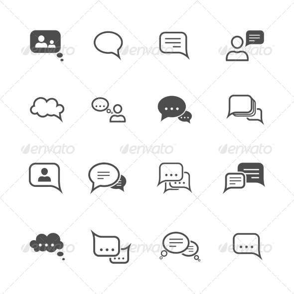 GraphicRiver Chat Icon Set 7511216