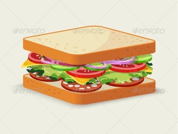 GraphicRiver Salami Sandwich 7511225
