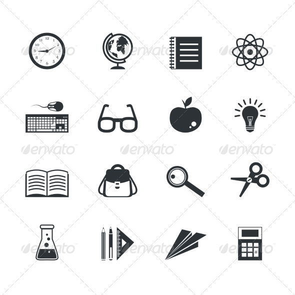 GraphicRiver Education Icons Set 7511229