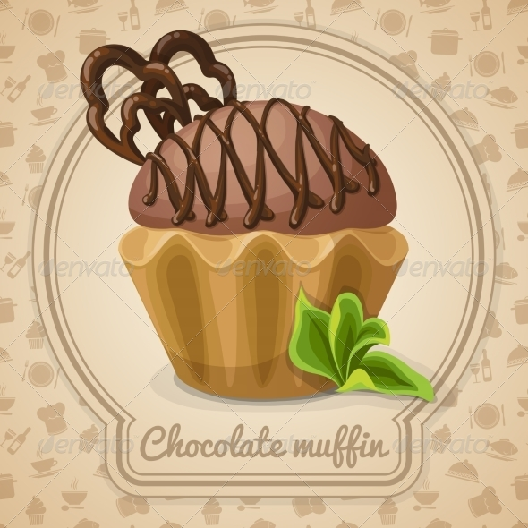 GraphicRiver Chocolate Muffin Poster 7511230