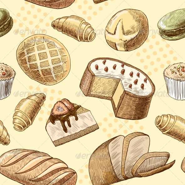 GraphicRiver Pastry Seamless Pattern 7511247