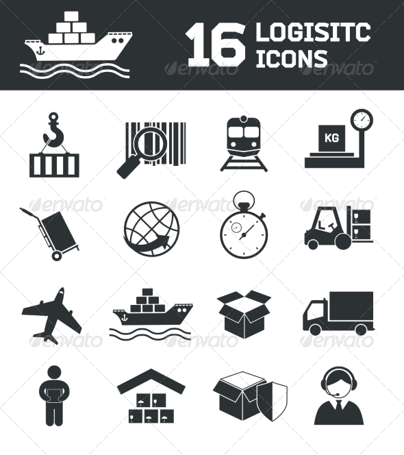 GraphicRiver Logistic Icons Set 7511293