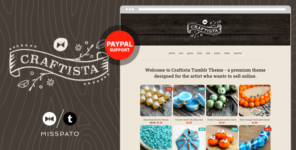 ThemeForest Craftista eCommerce Tumblr Theme 7511373