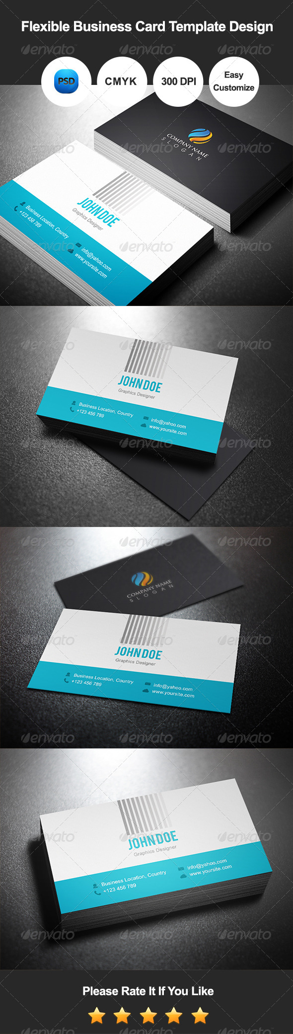 GraphicRiver Flexible Business Card Template Design 7511420