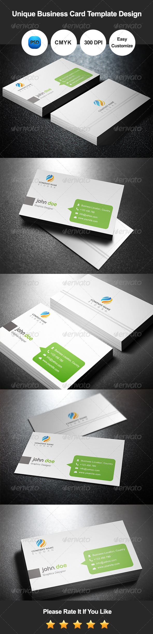 GraphicRiver Unique Business Card Template Design 7511635