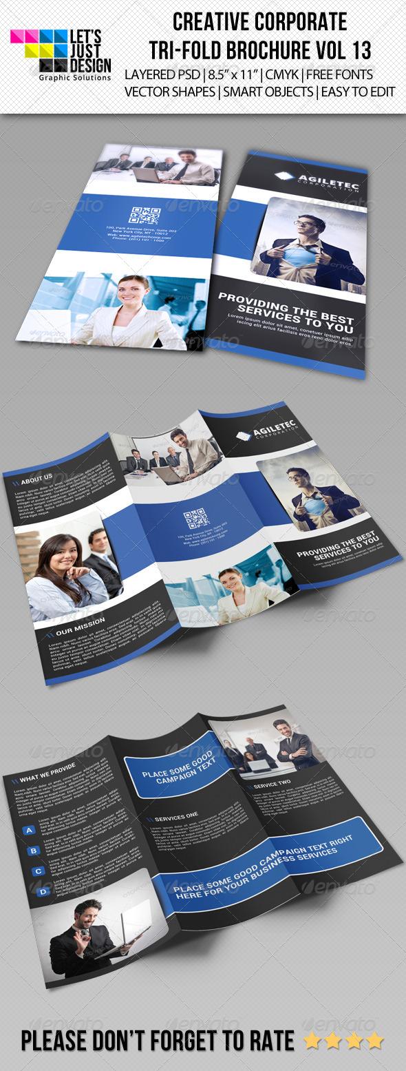 GraphicRiver Creative Corporate Tri-Fold Brochure Vol 13 7511637