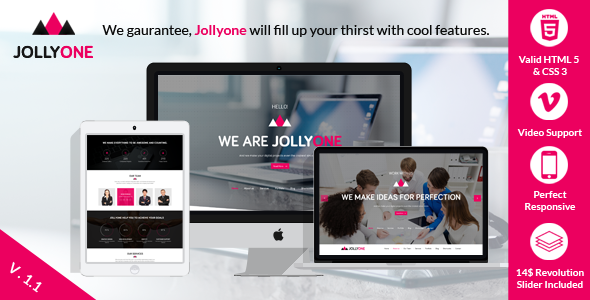 ThemeForest Jollyone Creative Onepage HTML5 Website Template 7511656