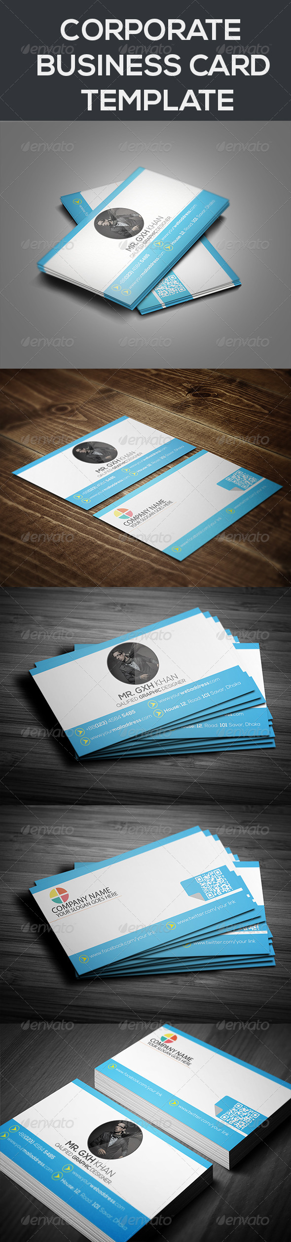GraphicRiver Corporate Business Card Template 7511783