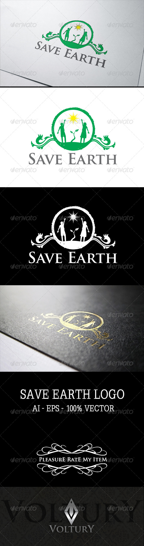 GraphicRiver Save Earth Logo 7511884