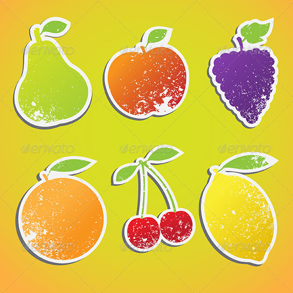 GraphicRiver Fruit Stickers 7512118