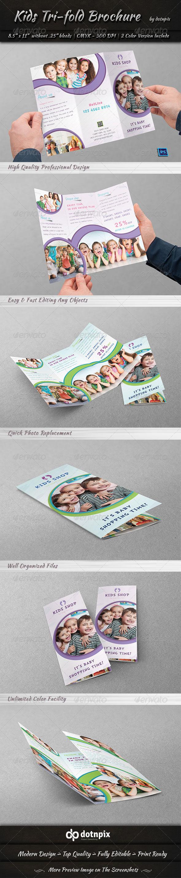 GraphicRiver Kids Tri-Fold Brochure 7512304