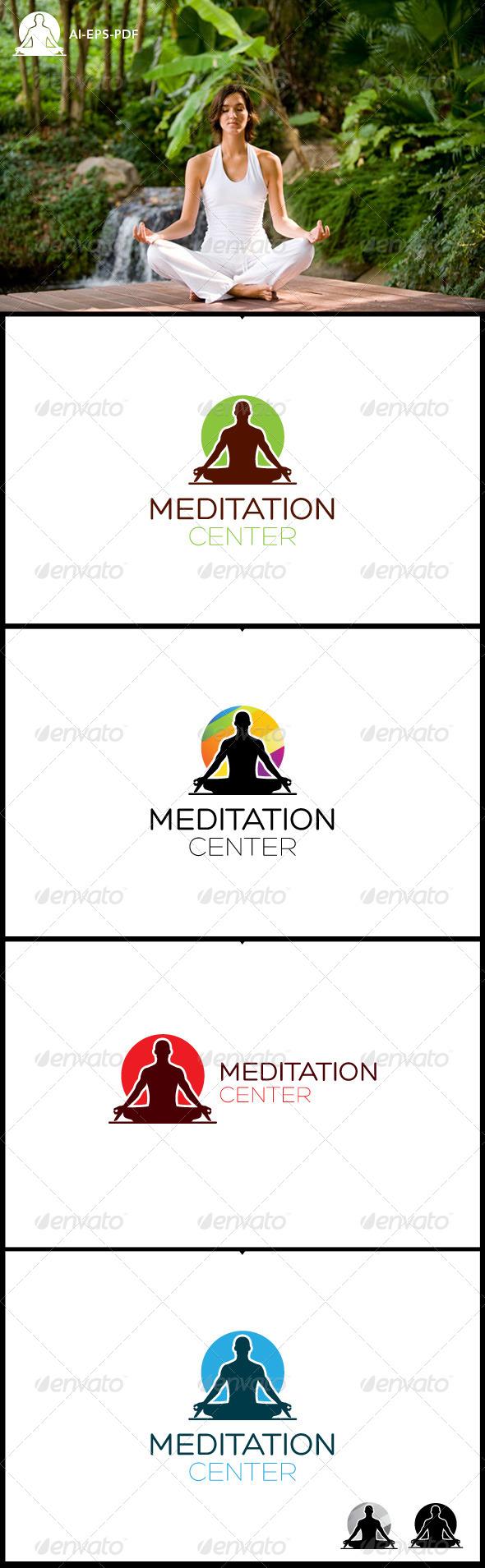 GraphicRiver Meditation Center Logo 7512544