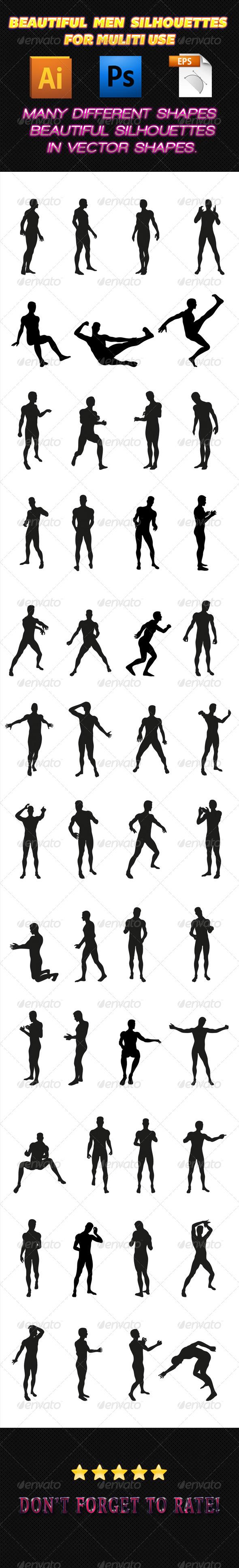 GraphicRiver Men Silhouettes 01 7512667