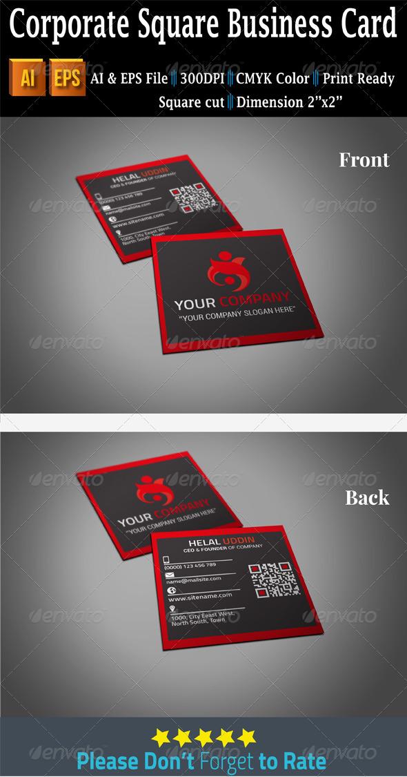 GraphicRiver Corporate Square Business Card 7512689