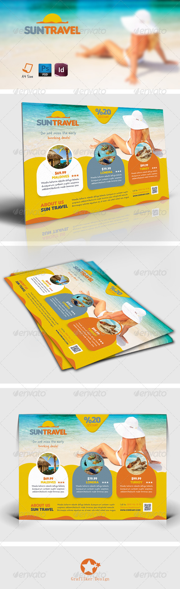GraphicRiver Travel Tours Flyer Templates 7512752