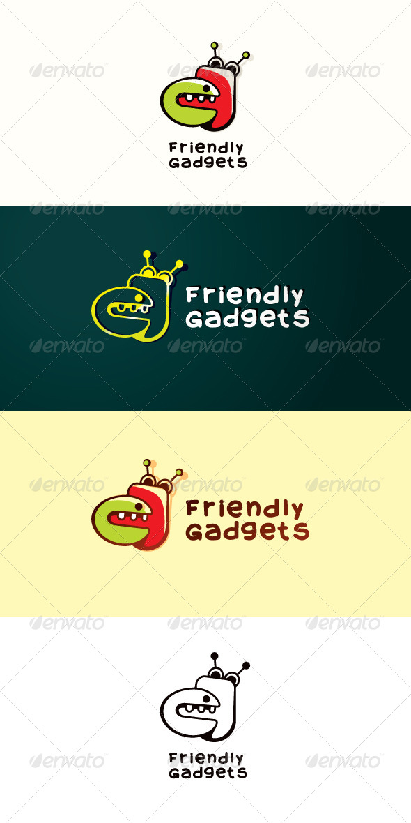 GraphicRiver Friendly Gadgets Stock Logo Template 7512758