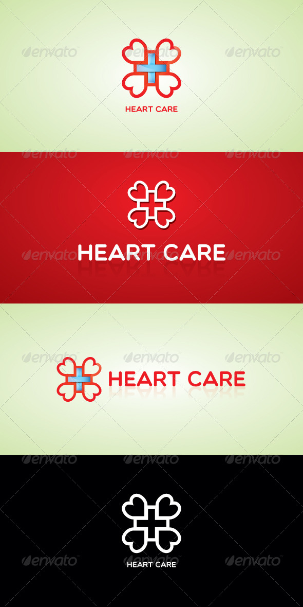 GraphicRiver Heart Care Stock Logo Template 7512771