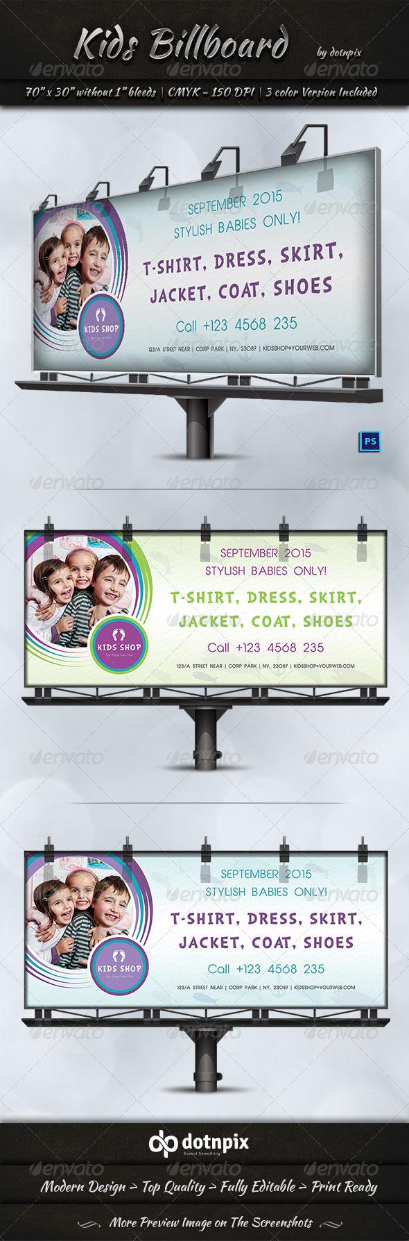 kids billboard template 7512923 print template signage kids