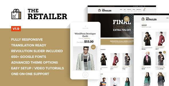 plantillas ecommerce moda The Retailer - Retina Responsive WooCommerce Theme - WooCommerce eCommerce