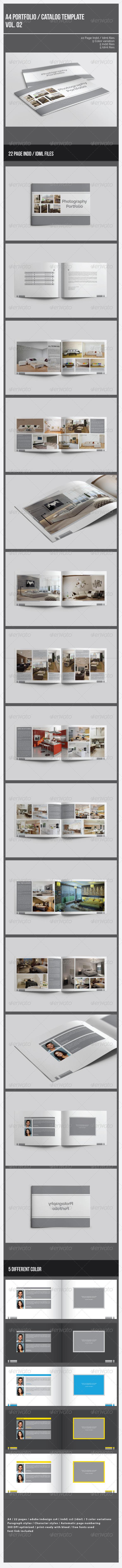 GraphicRiver A4 Portfolio Catalog Template Vol.2 7511764