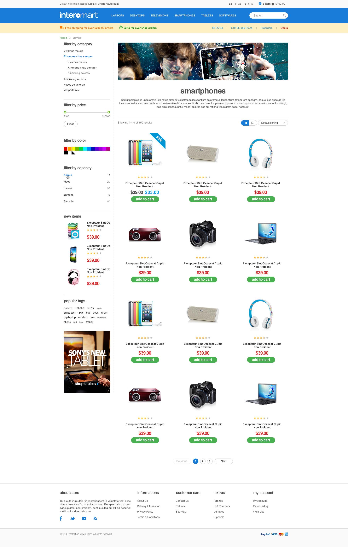 WooCommerce Responsive Theme - Computer