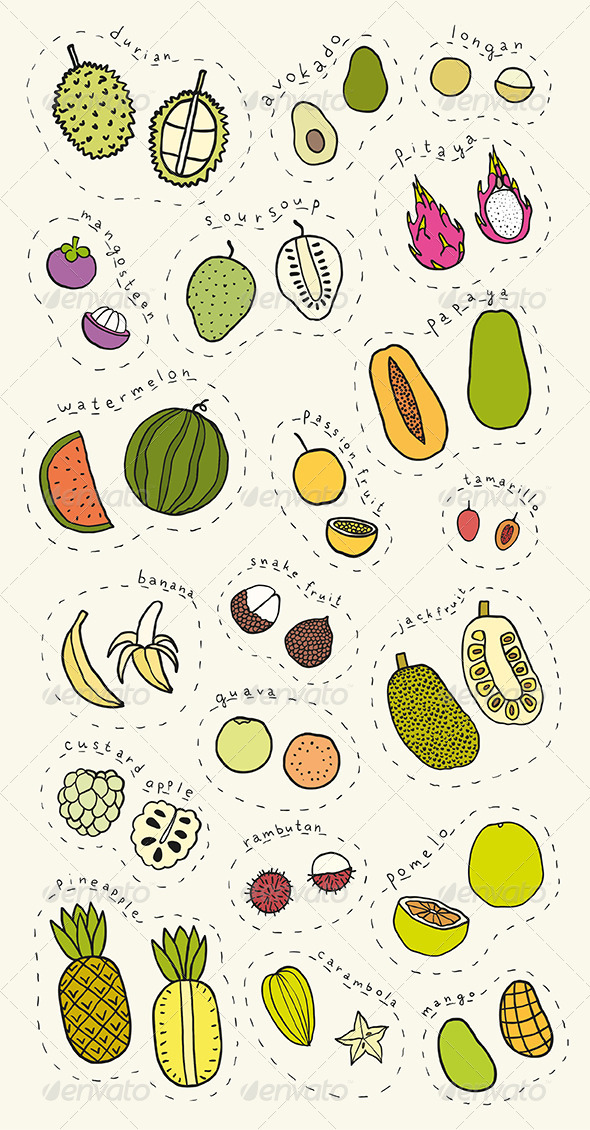 GraphicRiver Exotic fruits 7512181