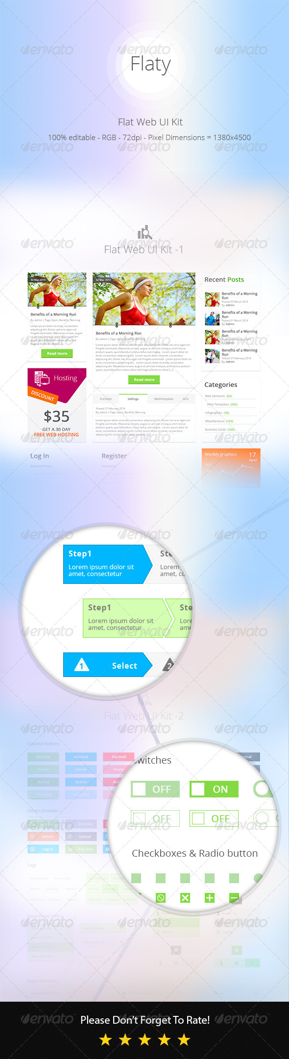GraphicRiver Flat Web UI Kit 7513284