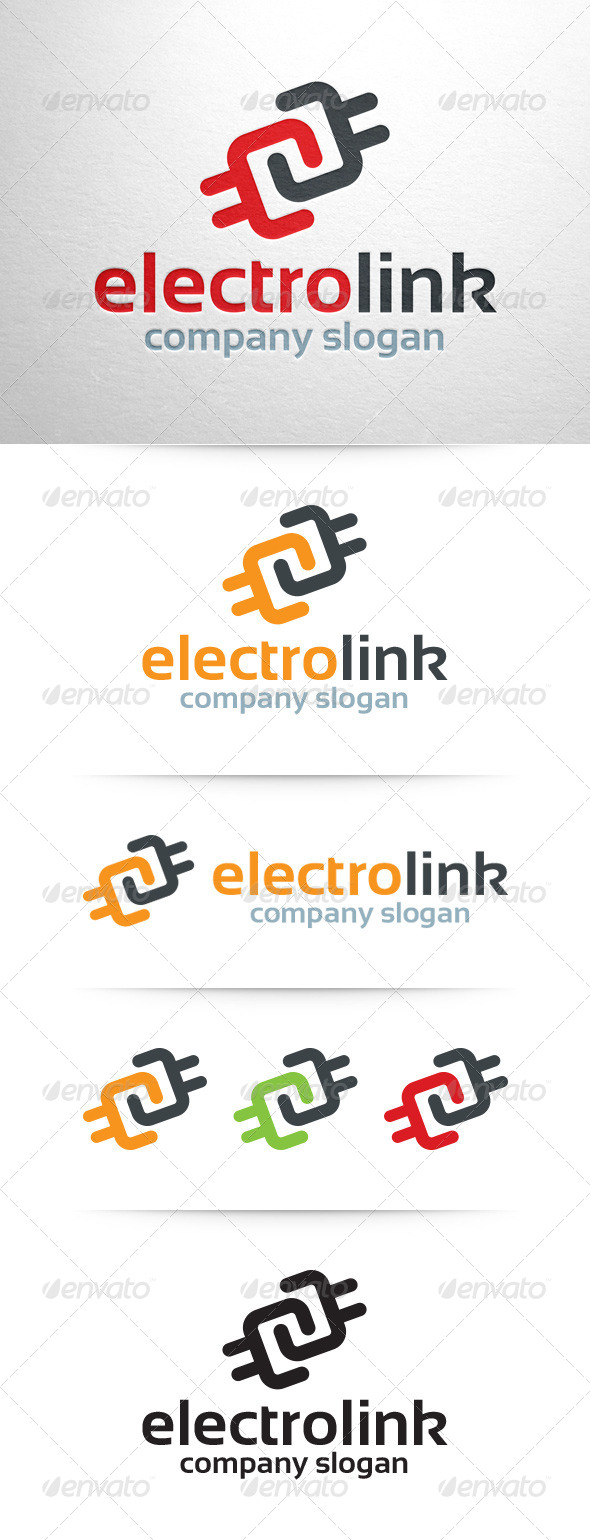 GraphicRiver Electro Link Logo Template 7513709