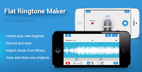 CodeCanyon Flat Ringtone Maker for iPhone 7513712