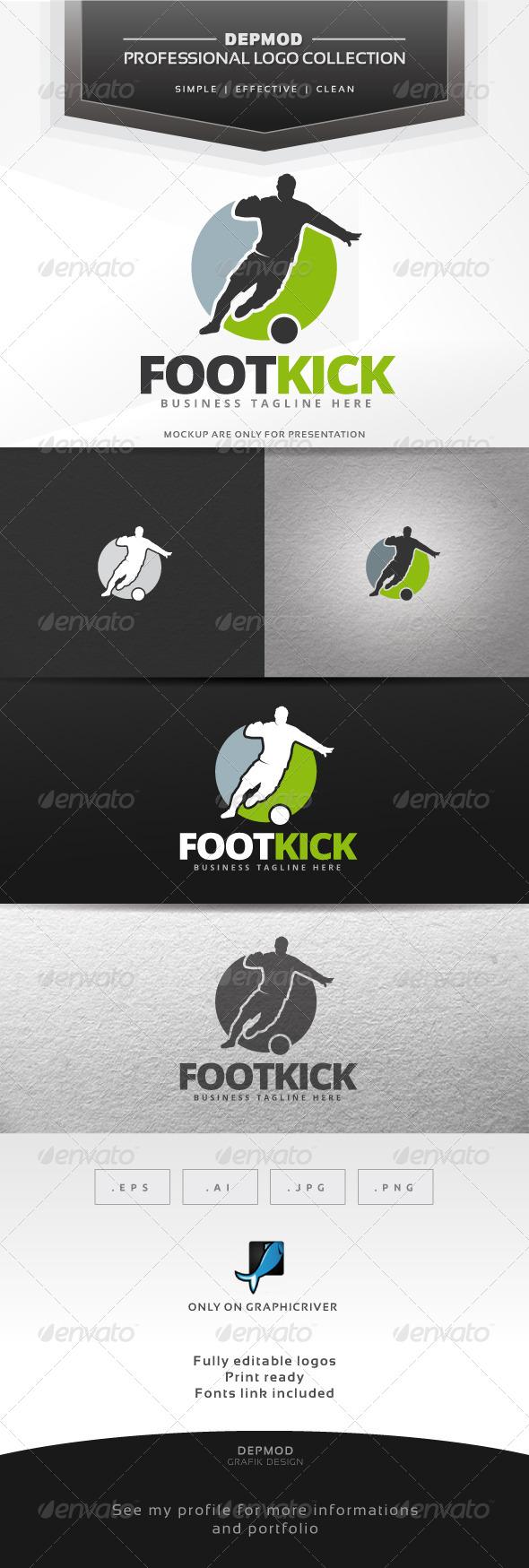 GraphicRiver Foot Kick Logo 7513735