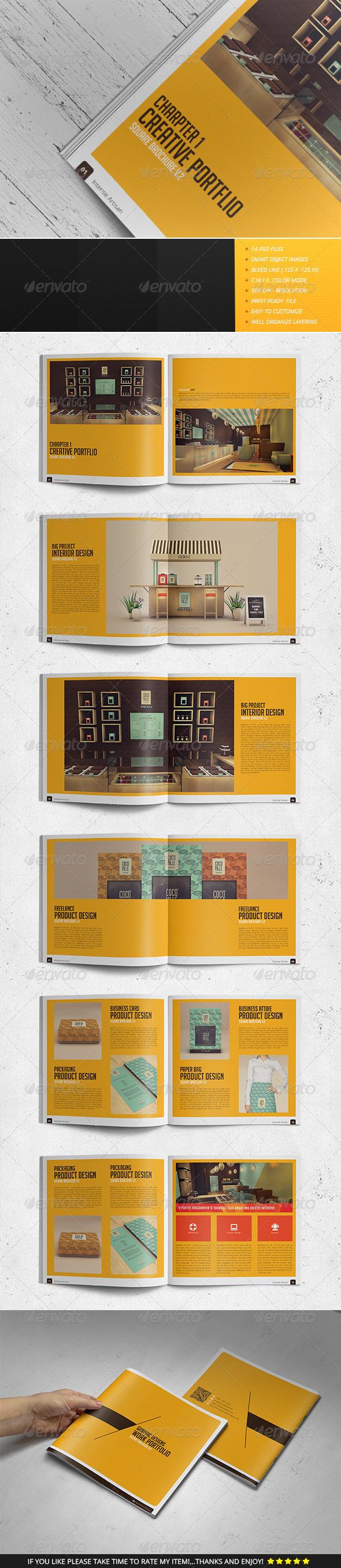 GraphicRiver Square Brochure Portfolio Vol.2 7513738