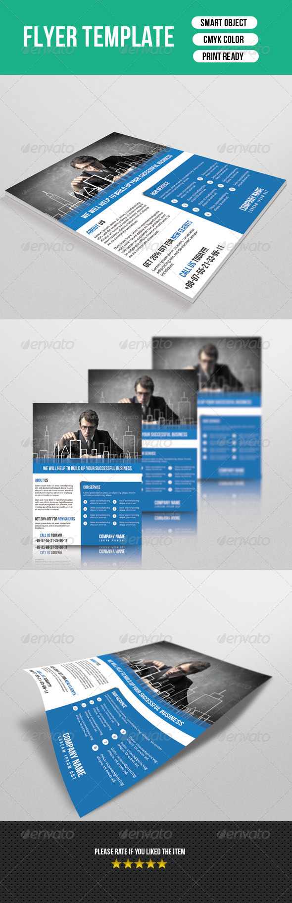 GraphicRiver Flyer Template-Business 7513743