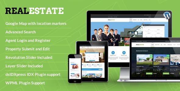 ThemeForest RealEstate Responsive WordPress Theme 7490745